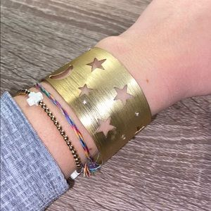 Anthropologie Gold Star Cuff